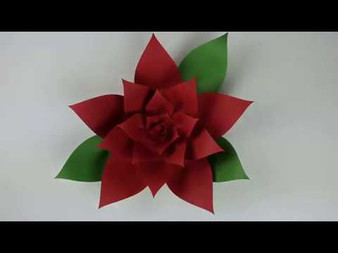 Fun Festive Paper Poinsettia Youtube