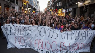 Protests in Spain after 'wolf pack' rape verdict
