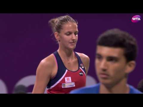 2017 Qatar Total Open Quarterfinals   Karolina Pliskova vs Zhang Shuai   WTA Highlights