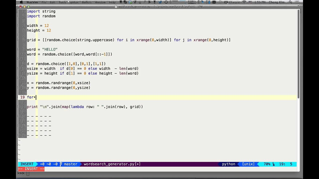 wordsearch generator python
