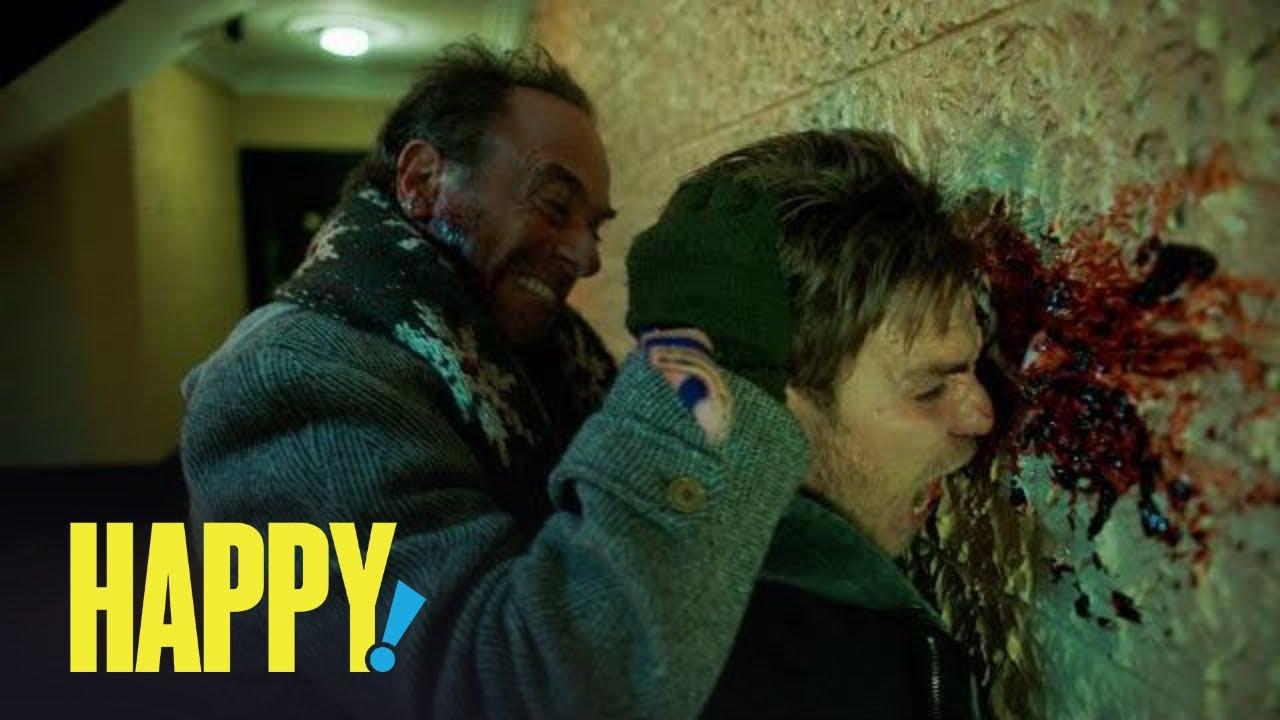 Happy Season 1 Nick Sax S Carnage Count Syfy Youtube