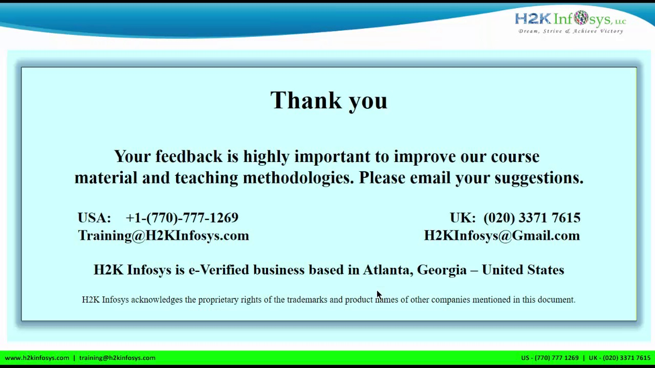 H2K Infosys reviews | h2kinfosys google reviews | h2k infosys training  reviews | student got job