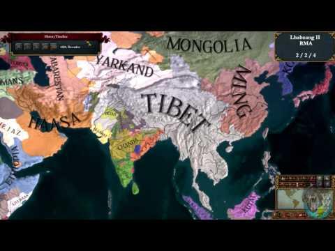 #6 | EU4 Timelapse | My Bhutanese - Tibetan Empire | Bhutan Tibet Timeline