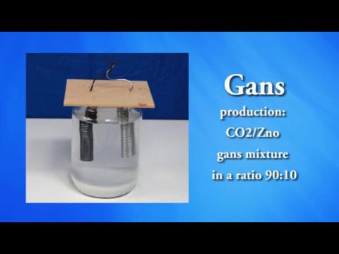 MaGrav plasma unit: production Co2 Gans mixture in a ratio 90:10