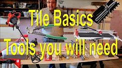 🔨Tile basics, tools you  need.🔨
