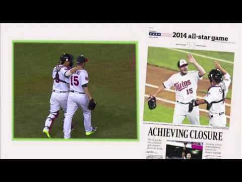 Star Tribune employee throws out pitch at Twins game