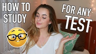 How to Study for ANY TEST! | Study Tips and Ultimate Study Guide