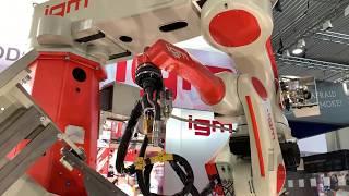 igm Robotersysteme AG auf der Messe Blechexpo Schweisstec Stuttgart 2019 - igm Schweißroboter
