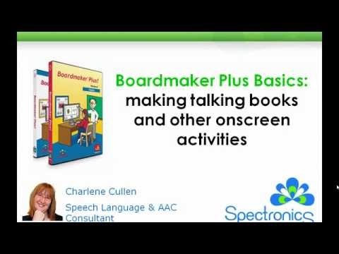 Boardmaker Plus Basics: Making talking books and other onscreen activities