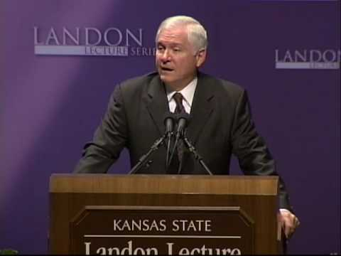 Landon Lecture: Robert Gates, U.S. Secretary of Defense