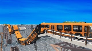 BeamNG DRIVE  Articulated Bus Crashes #10