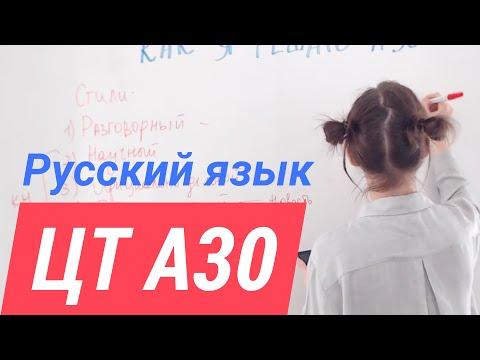 ЦТ А30. Стили и типы речи