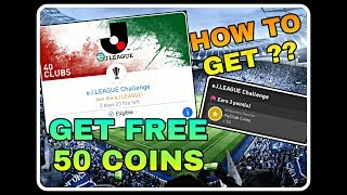 Get free 50 my club coins/ New J.league challenge|| pes19 mobile