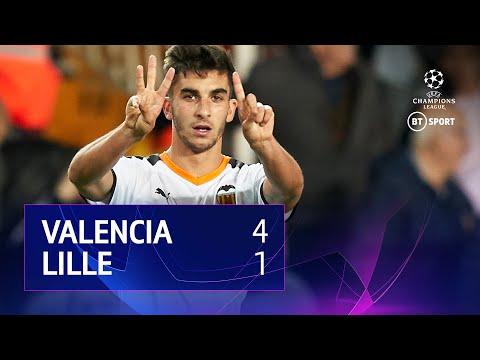 Valencia vs Lille (4-1) | UEFA Champions League Highlights