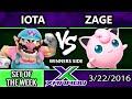 S@X 142 - Iota (Wario) Vs. Zage (Jigglypuff/Pacman) SSB4 Tournament - Smash Wii U - Smash 4
