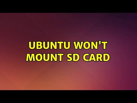 Ubuntu: Ubuntu Won't Mount SD Card (2 Solutions!!)