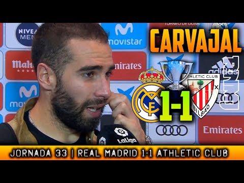 CARVAJAL reacción post ATHLETIC 1-1 REAL MADRID (18/04/2018) | LIGA JORNADA 33