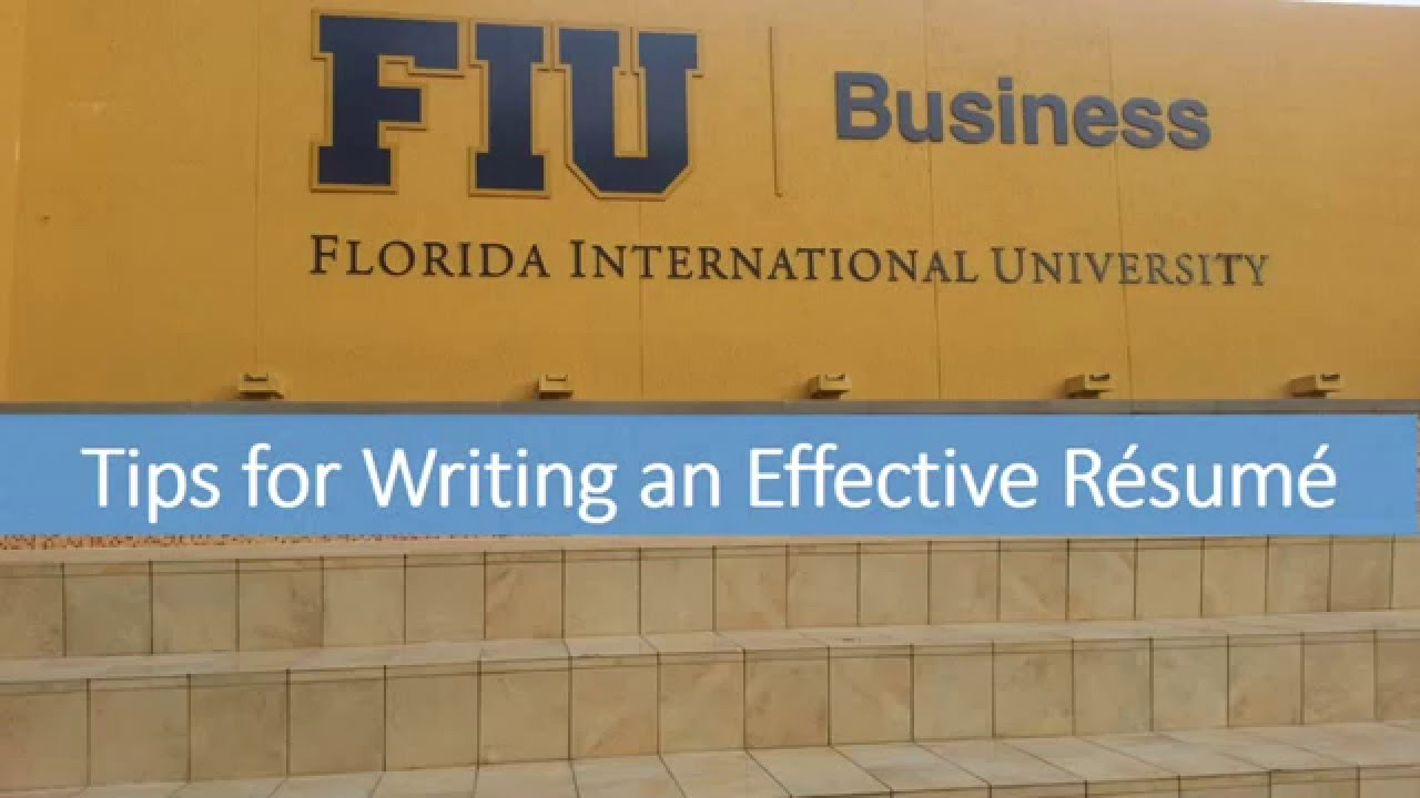 Fiu College Of Business Online Resume Workshop April 2015 Youtube