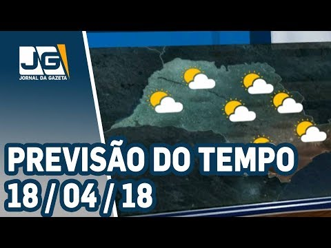 Previsão do Tempo - 18/04/2018