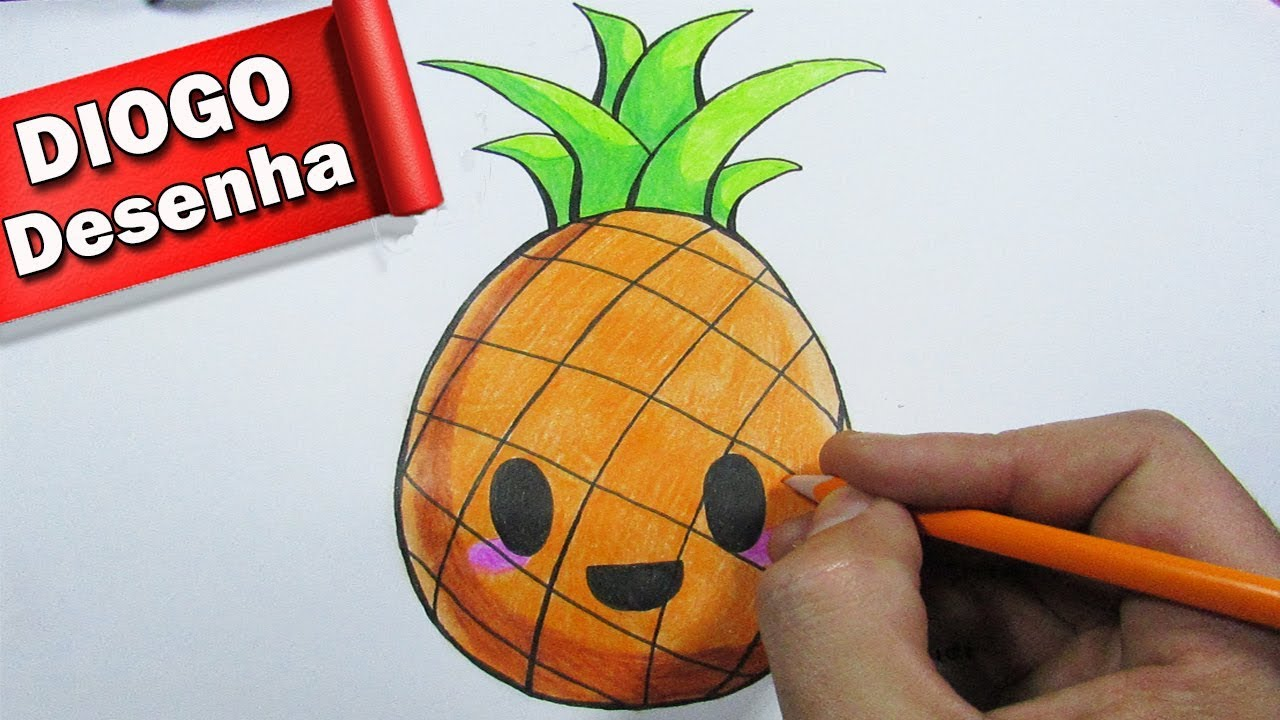 Desenhando Um Abacaxi Kawaii Speed Draw Youtube