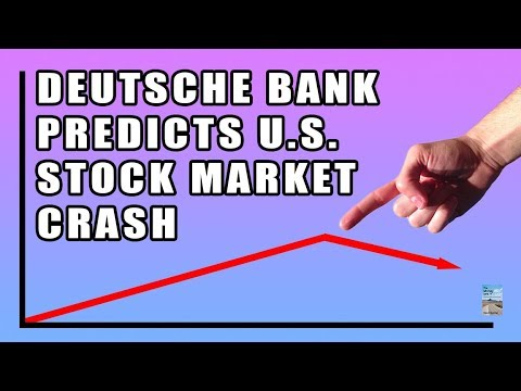 Deutsche Bank Predicts U.S. Market CRASH in the COMING MONTHS!