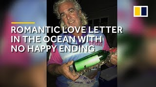 A love letter discovered in a drifting bottle in the ocean that ends sadly