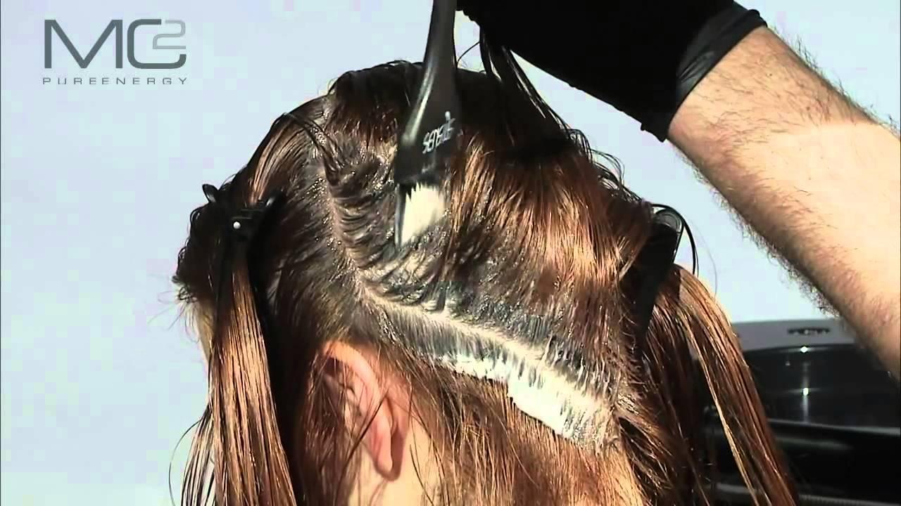 Application coloration cheveux long