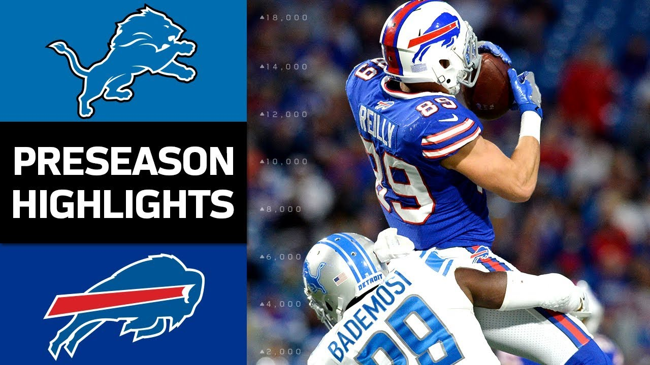 Lions vs. Bills | NFL Preseason Week 4 Game Highlights - YouTube