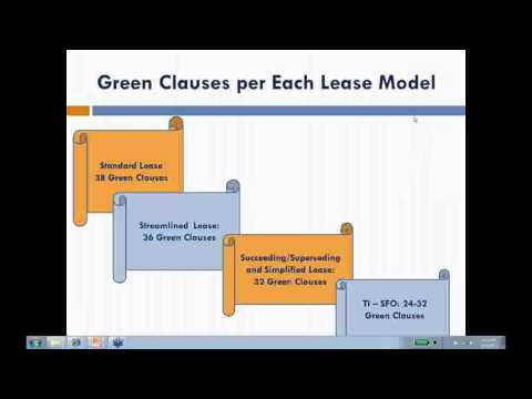 GSA Green Lease Clauses- Green Lease Library Webinar, March, 2012