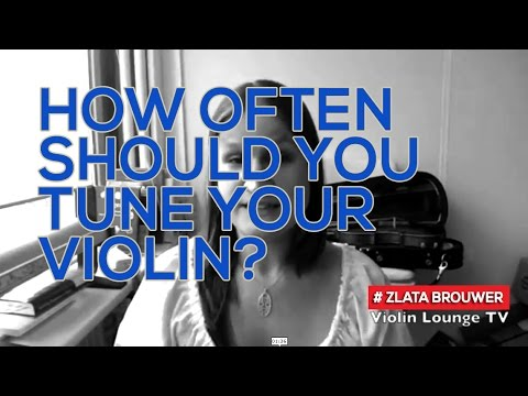 How often should you tune your violin?