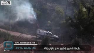 مصر العربية | رجال إطفاء فلسطينيون وإسرائيليون يخمدون حرائق قرب رام الله