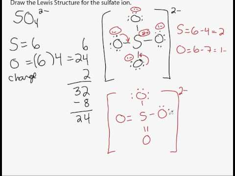 sulfate lewis structure part 2avi  YouTube
