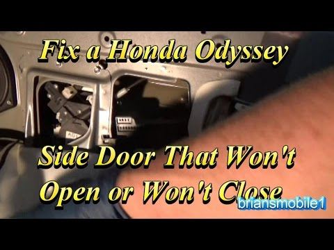 Fix a Honda Odyssey Side Door That Won't Close or Open