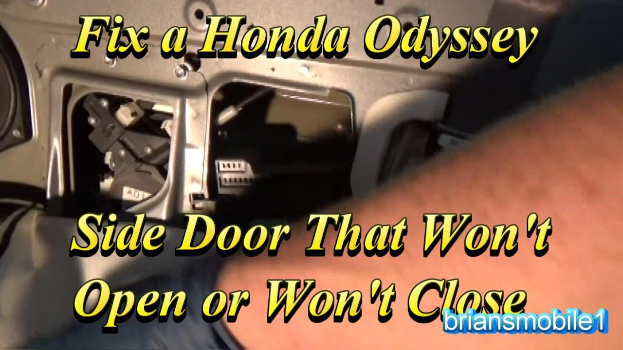 05 honda odyssey sliding door problems