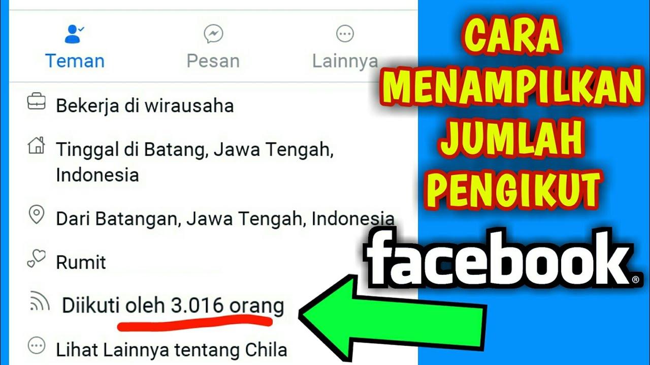 Cara Menampilkan Jumlah Pengikut Di Profil Facebook Youtube