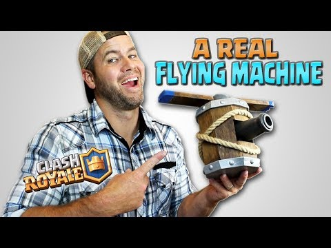 Make a REAL Flying Machine - Tutorial - DIY - Clash Royale