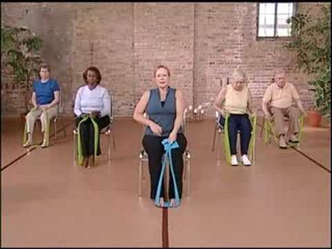 Chair Exercises For The Elderly Stronger Seniors Core Strength Resistance Workout - YouTube