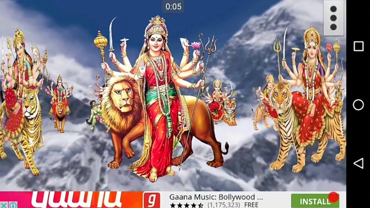 4d Maa Durga Live Wallpaper Youtube