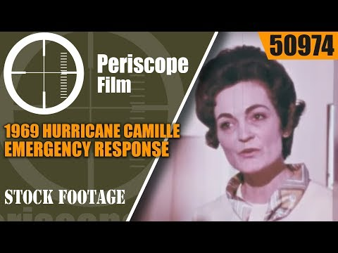 "1969 HURRICANE CAMILLE EMERGENCY RESPONSE / CIVIL DEFENSE FILM  ""A LADY CALLED CAMILLE"" 50974"