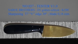 No 37 SABOL BROTHERS - O1 golden edition - K390 30° TESTER V1.0