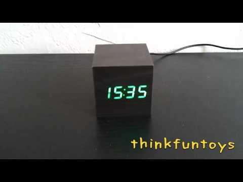Wood Green LED Desktop Clock
