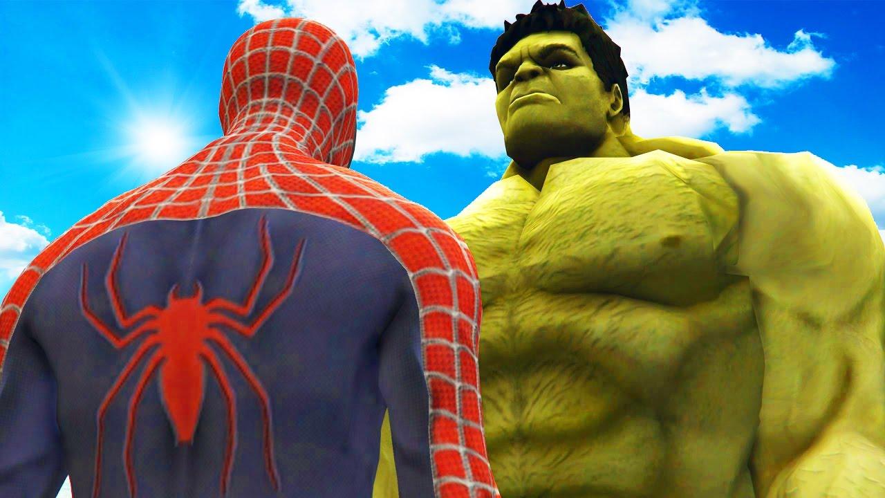 BIG HULK VS SPIDERMAN - THE INCREDIBLE HULK VS SPIDER-MAN ...