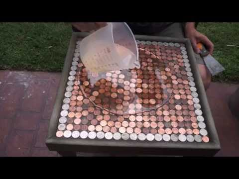DIY How To Make A Penny Top Table