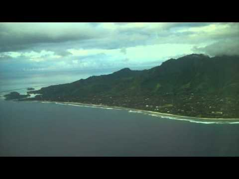 NZ19 Landing Rarotonga from Los Angeles