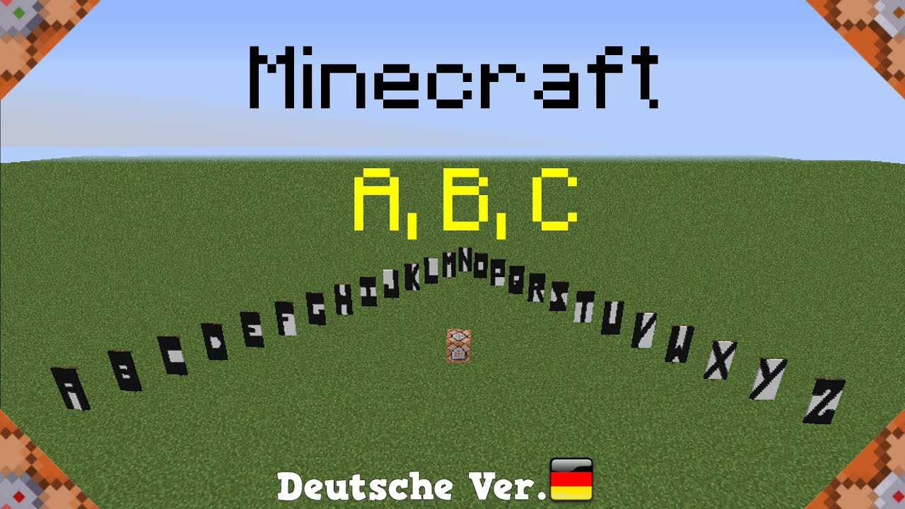 Banner A B C In Minecraft Only One Command Ger Youtube