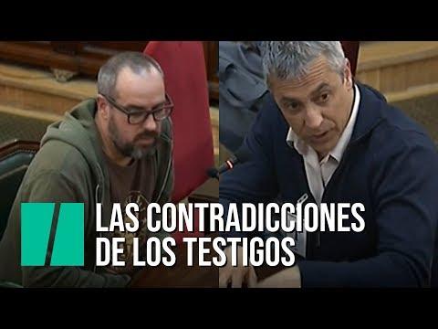 Las contradicciones de los testigos en el juicio del procés
