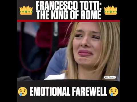 hqdefault francesco totti the king of rome emotional farewell on his last