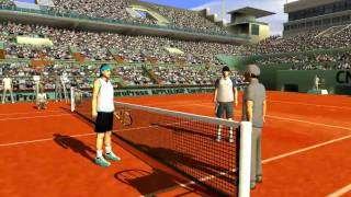 FULL ACE TENNIS simulator  - AI vs AI at Paris (french court) -