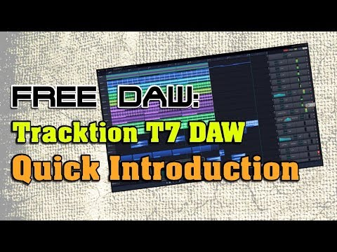 Tracktion T7 Free DAW Intro - YouTube