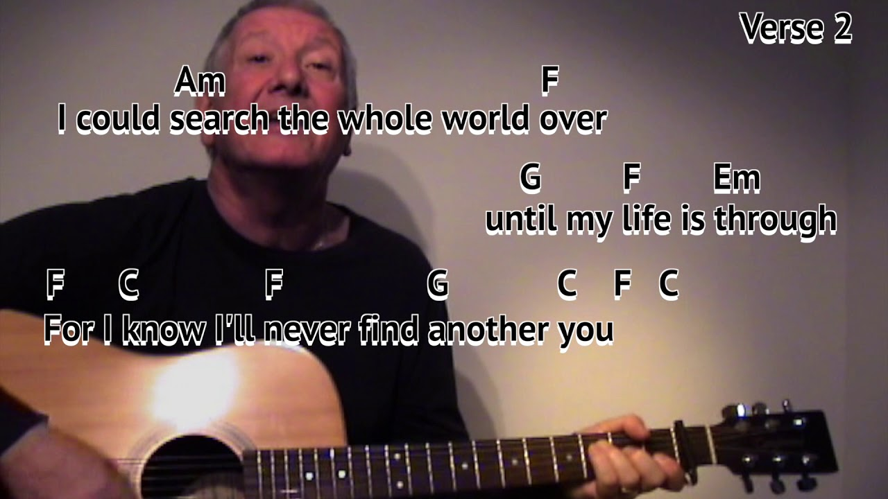 Ill Never Find Another You The Seekers Easy Chords Guitar